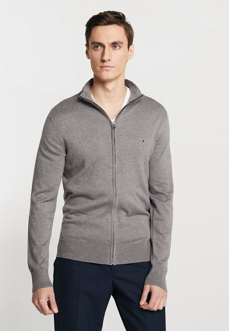 Tommy Hilfiger - ZIP THROUGH - Strikjakke /Cardigans - grey