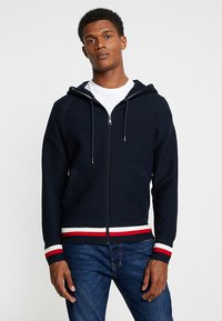 Tommy Hilfiger - STRUCTURED BRANDED ZIP HOODY - Cardigan - blue - 0