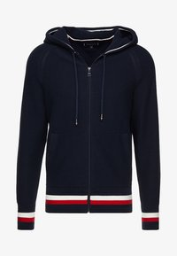 Tommy Hilfiger - STRUCTURED BRANDED ZIP HOODY - Cardigan - blue - 4