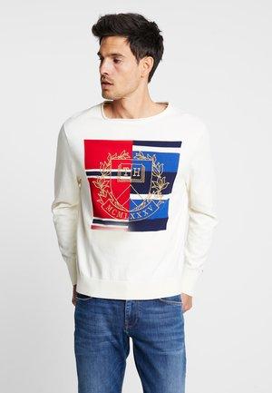 GRAPHIC - Stickad tröja - white
