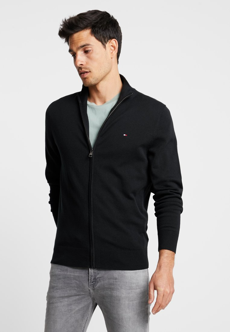 Tommy Hilfiger - ZIP THROUGH - Cardigan - black