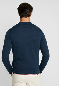 Tommy Hilfiger - TIPPED CREW NECK - Neule - blue - 2