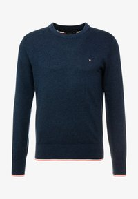 Tommy Hilfiger - TIPPED CREW NECK - Neule - blue - 3