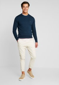 Tommy Hilfiger - TIPPED CREW NECK - Neule - blue - 1