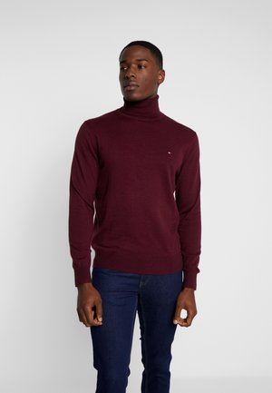 ROLL NECK - Strikkegenser - red