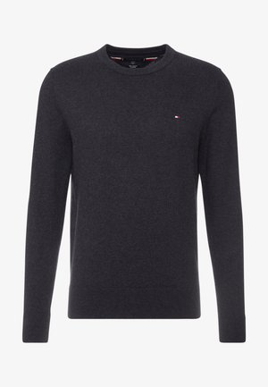 PIMA CREW NECK - Strikkegenser - black
