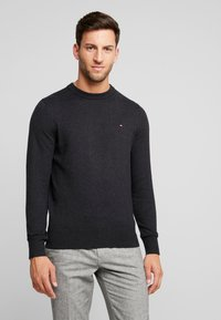 Tommy Hilfiger - PIMA CREW NECK - Jumper - black - 0