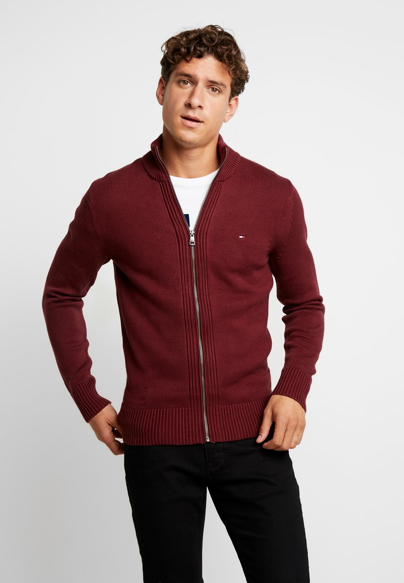 Tommy Hilfiger - CHUNKY ZIP THROUGH - Kardigan - red