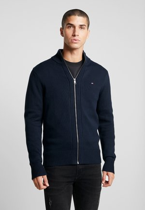 CHUNKY ZIP THROUGH - Kardigan - blue