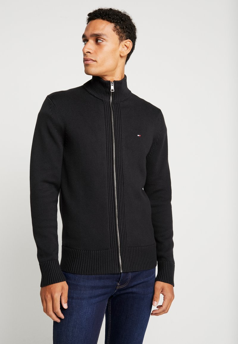 Tommy Hilfiger - CHUNKY ZIP THROUGH - Gilet - black
