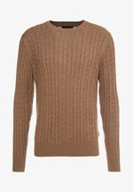 CLASSIC CABLE CREW NECK - Jumper - brown
