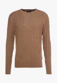 Tommy Hilfiger - CLASSIC CABLE CREW NECK - Neule - brown - 4