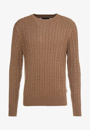 CLASSIC CABLE CREW NECK - Stickad tröja - brown