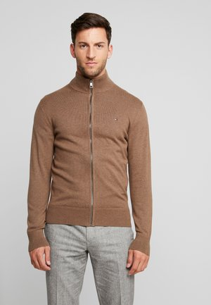 PIMA ZIP THROUGH - Cardigan - brown