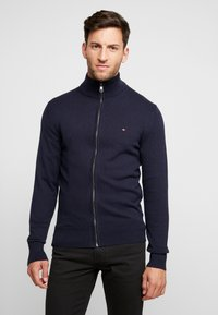 Tommy Hilfiger - PIMA ZIP THROUGH - Cardigan - blue - 0
