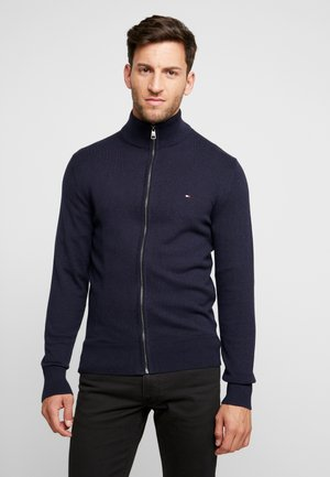 PIMA ZIP THROUGH - Chaqueta de punto - blue
