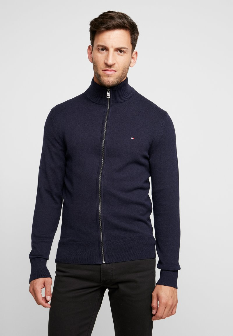 Tommy Hilfiger - PIMA ZIP THROUGH - Cardigan - blue
