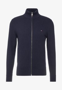 Tommy Hilfiger - PIMA ZIP THROUGH - Gilet - blue