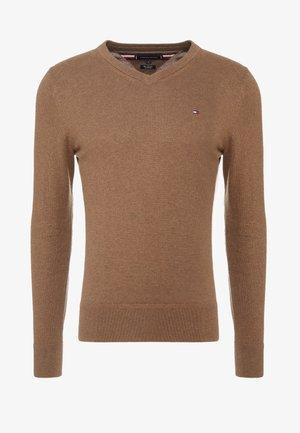 PIMA V NECK - Pullover - brown