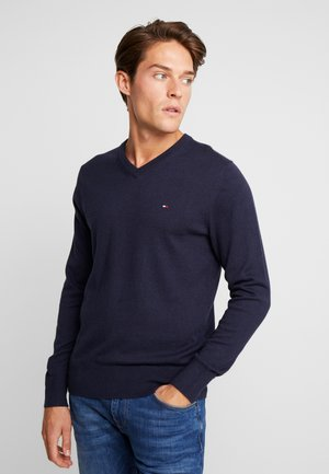 PIMA V NECK - Neule - blue