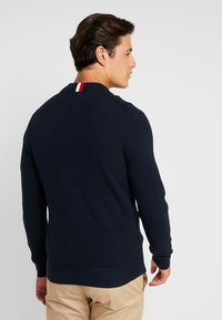 Tommy Hilfiger - RICECORN BASEBALL ZIP THROUGH - Kardigan - blue - 2