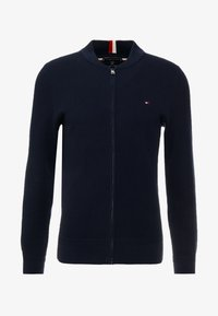 Tommy Hilfiger - RICECORN BASEBALL ZIP THROUGH - Kardigan - blue - 3