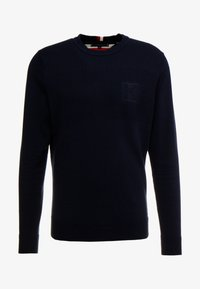 Tommy Hilfiger - PLACED STRUCTURE BRANDED - Stickad tröja - blue - 3