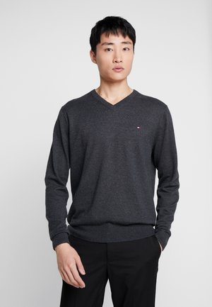 BLEND VNECK - Strikkegenser - charcoal heather