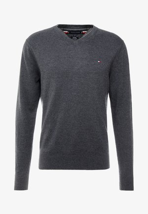 BLEND VNECK - Maglione - charcoal heather