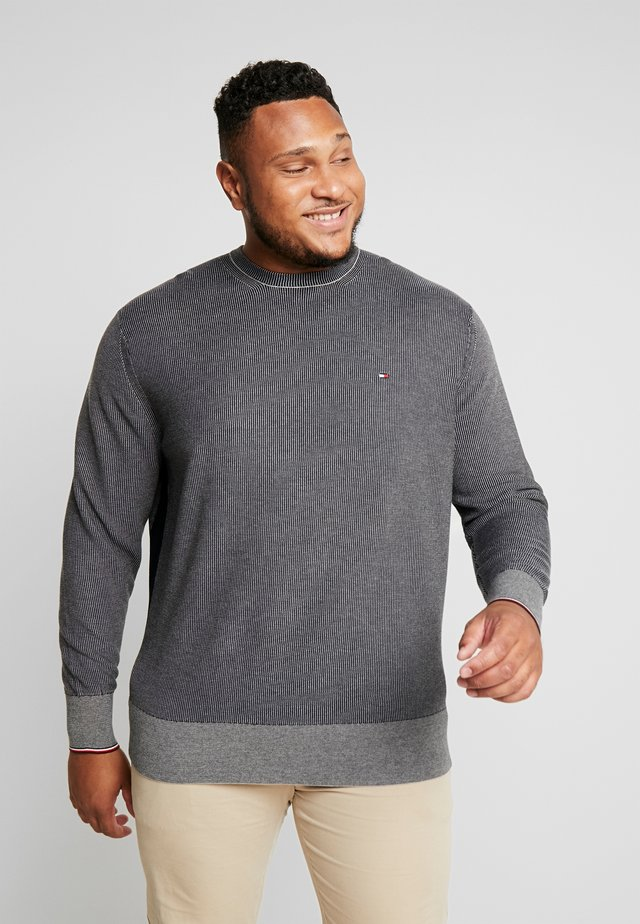 TWO COLOR STRUCTURE  - Jumper - blue