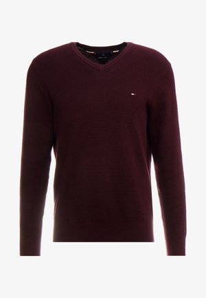STRUCTURED  V NECK - Jersey de punto - red