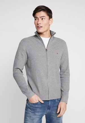 STRUCTURED ZIP THRU - Kardigan - grey