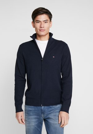STRUCTURED ZIP THRU - Cardigan - blue