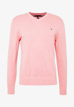 V NECK - Pullover - pink