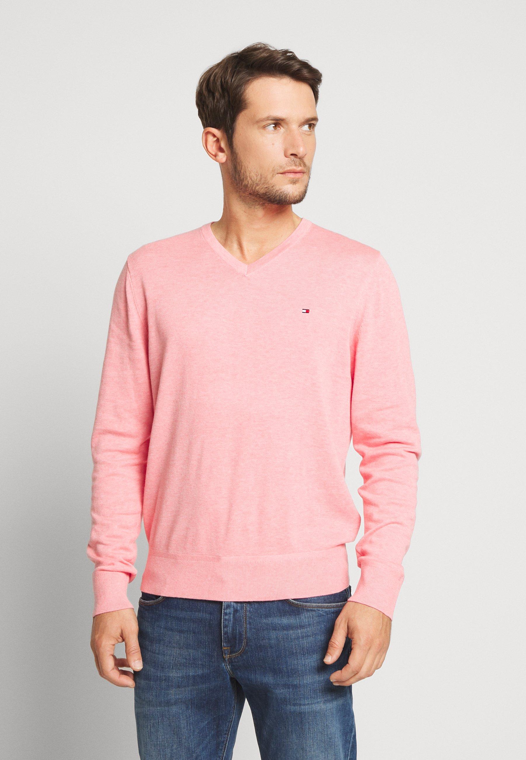 Tommy Hilfiger V NECK - Sweter - pink