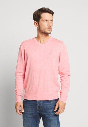 V NECK - Jumper - pink