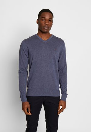 V NECK - Strikkegenser - blue