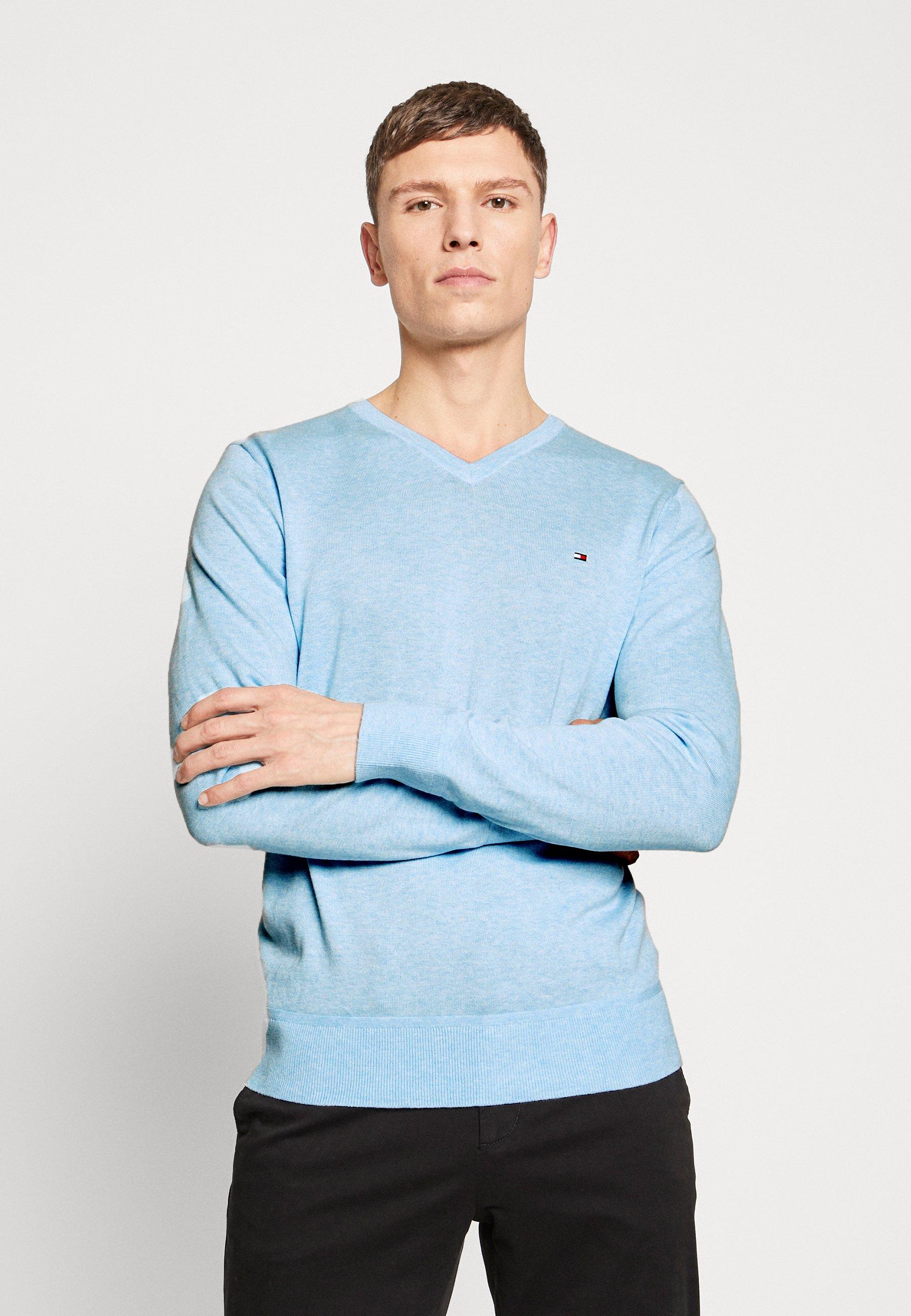 Tommy Hilfiger V NECK - Sweter - blue