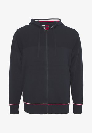 STRUCTURD BRANDED ZIP HOODY - Kardigan - blue