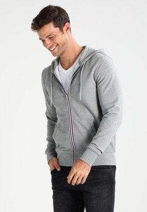 veste en sweat zippée - cloud heather