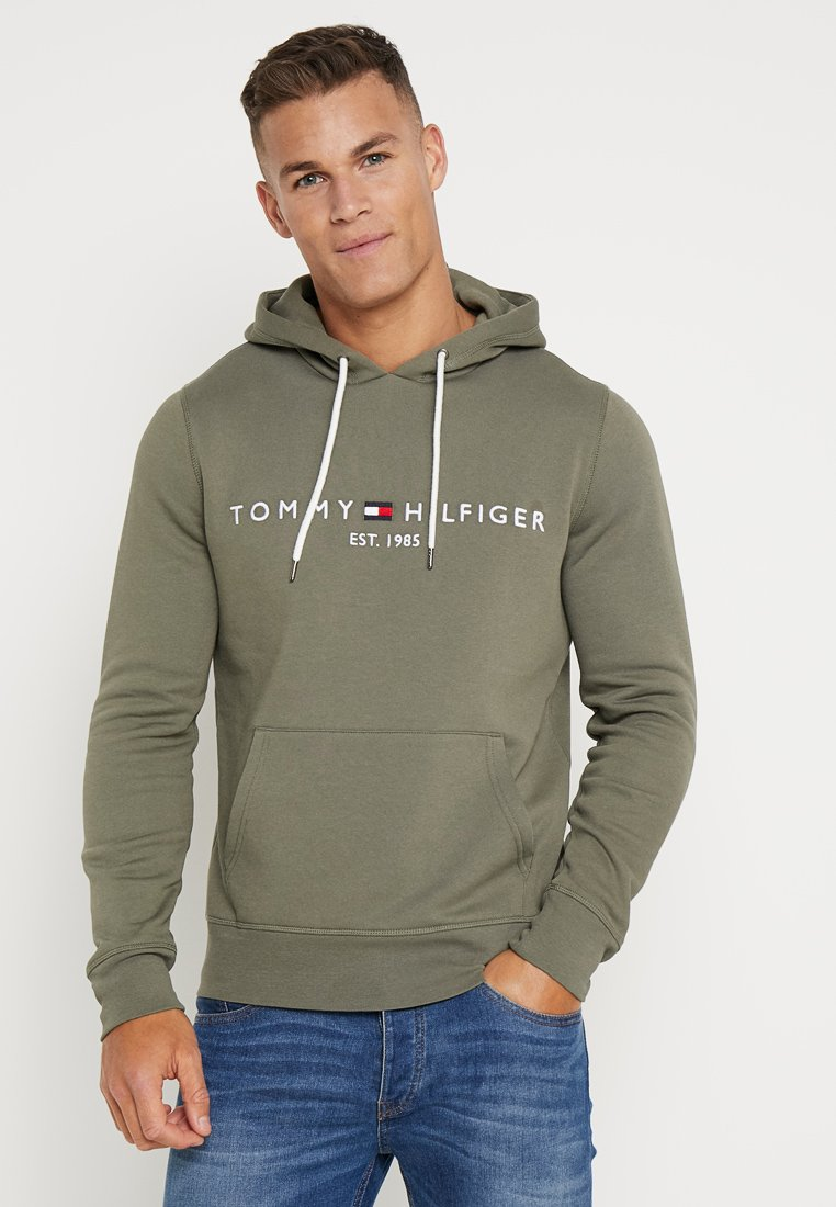 Tommy Hilfiger - LOGO HOODY - Jersey con capucha - green