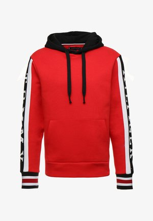 RELAXED SLEEVE BRANDED HOODY - Hoodie - red