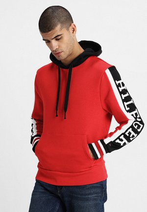 RELAXED SLEEVE BRANDED HOODY - Sweat à capuche - red