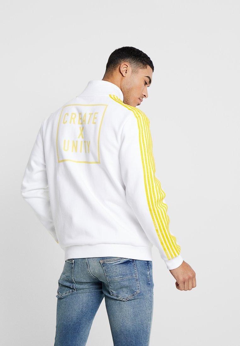 Tommy Hilfiger - LEWIS HAMILTON CHORD TRACKSUIT JACKET - Zip-up hoodie - white