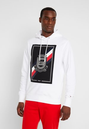 CREST ARTWORK HOODY - Luvtröja - white