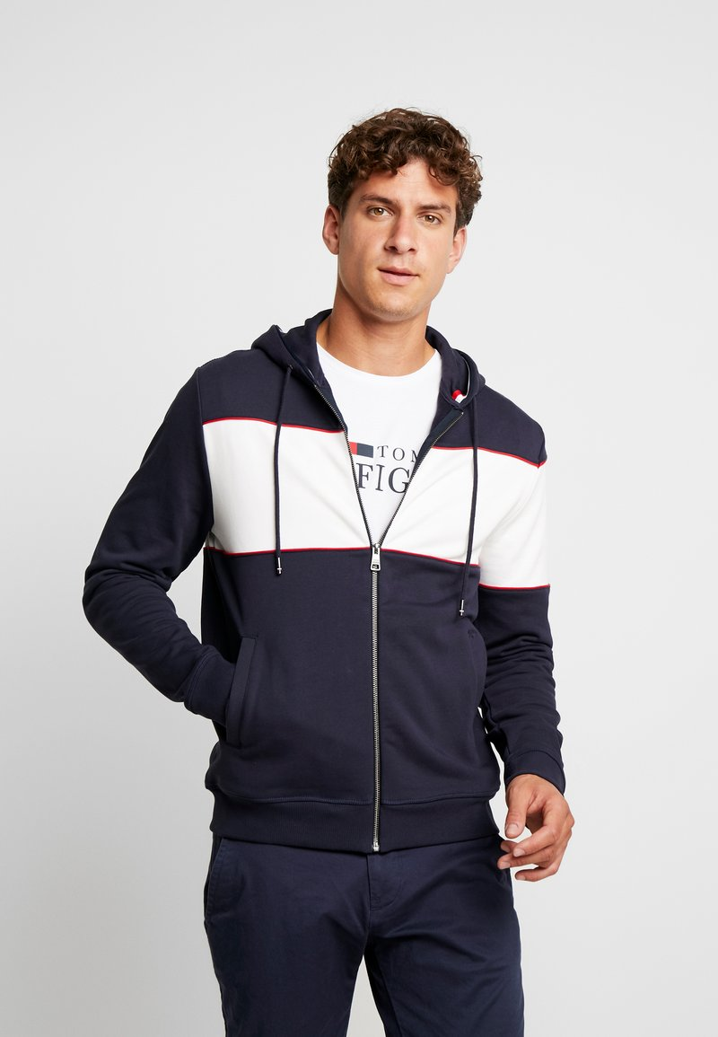 Tommy Hilfiger - CHEST HOODED ZIP THROUGH - Zip-up hoodie - blue