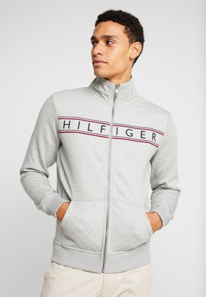 LOGO ZIP THROUGH - Mikina na zip - grey