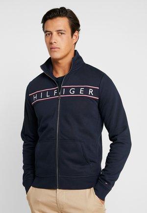 LOGO ZIP THROUGH - veste en sweat zippée - blue