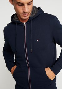 Tommy Hilfiger - BASIC LINED ZIP HOODY - Mikina na zip - blue
