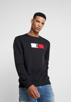 LEWIS HAMILTON FLAG LOGO CREW NECK - Sweater - black